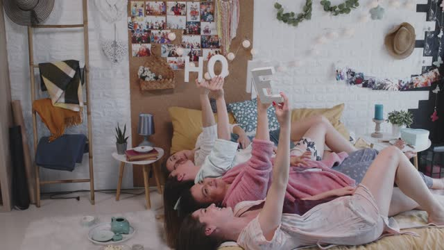 home is where the friends are - nightwear stock videos & royalty-free footage