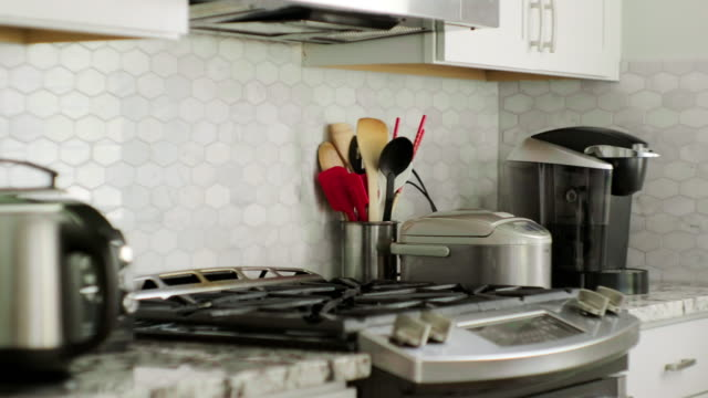 home kitchen appliances - cupboard stock videos & royalty-free footage