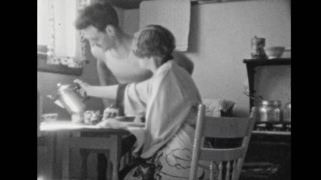 home life, 1930 - coffee table stock videos & royalty-free footage