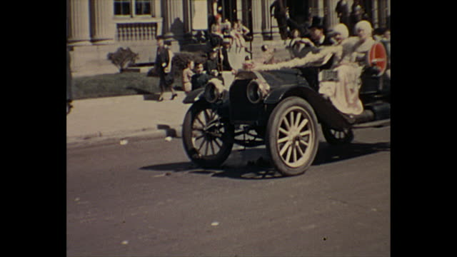 1938 home movie - 4th of july parade - fourth of july stock videos & royalty-free footage