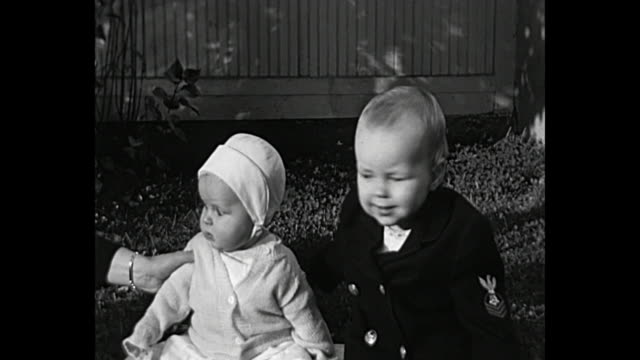 1931 Home Movie - Baby boy hugs and kisses Baby Girl