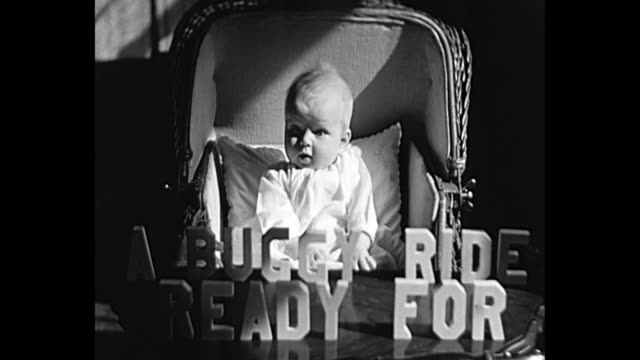 vídeos de stock e filmes b-roll de 1931 home movie - baby in vintage stroller - 1931