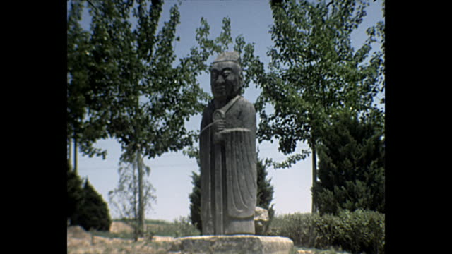 1969 Home Movie - Beijing, China Statues along the Sacred Way,