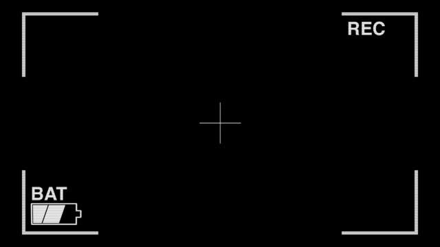 amateurfilm homegrown produce overlay (battery running out - fadenkreuz stock-videos und b-roll-filmmaterial
