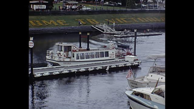 1966 home movie - canada - フェリーターミナル点の映像素材/bロール
