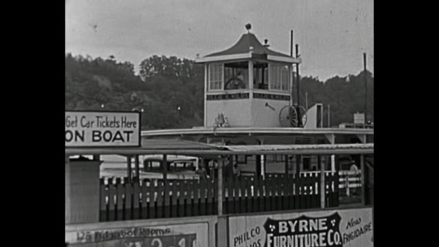 1934 Home Movie - Ferry Boat Ride on Mississippi River