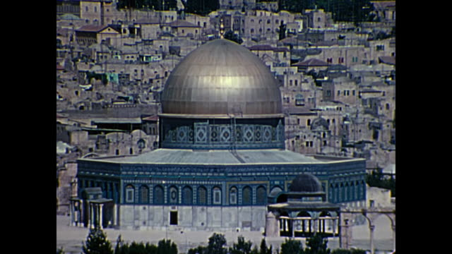 1969 Home Movie Israel - Zoom in/out of Temple Mount AKA Haram esh-Sharif