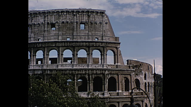 1964 Home Movie Italy - The Colosseum Exterior Shots