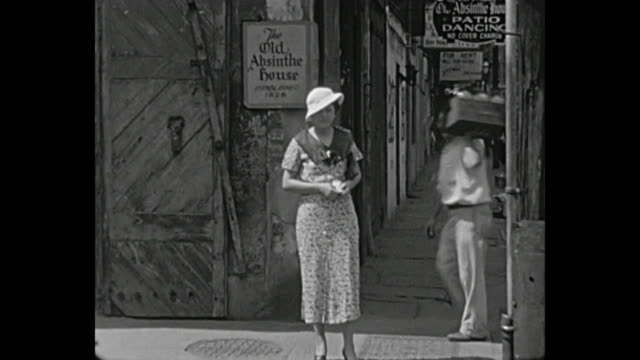 1934 home movie- new orleans - history stock videos & royalty-free footage