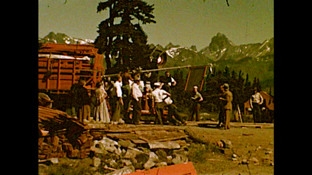 home movie on the set of the 'the barrier.' different views of actors dressed in western clothing filming on set; reflector on the ground; film crew... - reflector stock videos & royalty-free footage