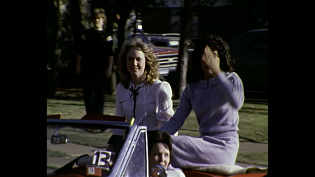 1980 home movie - parade in texas - 1980 stock videos & royalty-free footage