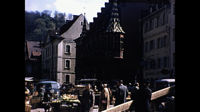 1957 Home Movie Paris France - Couple walk by Notre Dame Cathedral