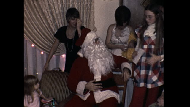 1973 Home Movie - Santa Claus passes out gifts