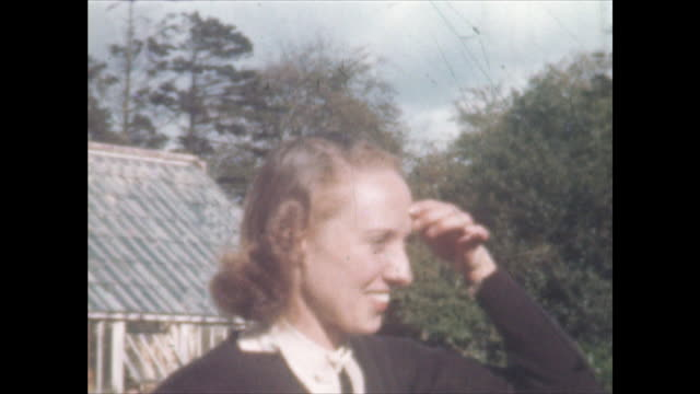 home movie shot at a house near muckamore co antrim northern ireland where an raf pilot and his wife were billeted in 1940 when he was attached to... - world war ii stock videos & royalty-free footage