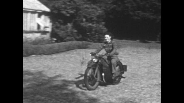 home movie shot at a house near muckamore, co. antrim, northern ireland where an raf pilot and his wife were billeted in 1940 when he was attached to... - only women stock videos & royalty-free footage