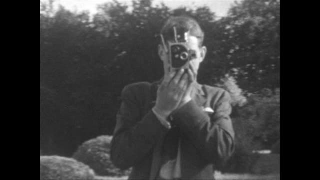 home movie shot at a house near muckamore co antrim northern ireland where an raf pilot and his wife were billeted in 1940 when he was attached to... - home movie stock videos & royalty-free footage