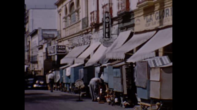 1954 home movie - streets of mexico - 1954 stock videos and b-roll footage