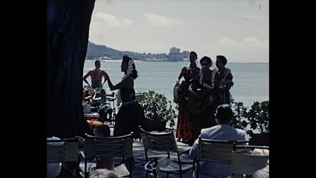 1960 Home Movie - Tourist watching hula dancer show