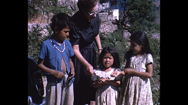 1963 Home Movie - Various shots of children in Oaxaca, Mexico
