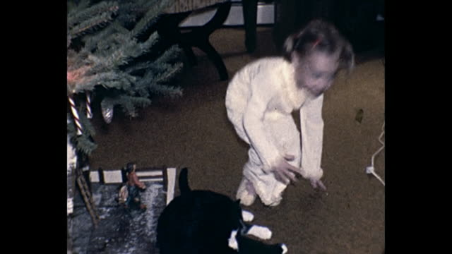 1973 Home Movie Young girl at Christmas time