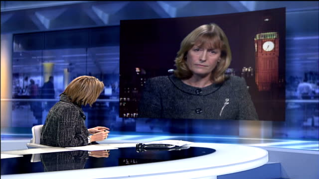 vídeos de stock e filmes b-roll de civil servant suspended tx mary nightingale speaking to ryan not heard joan ryan mp 2way interview from westminster sot it is the case that we knew... - 2007