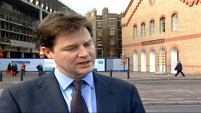 home office criminals' travel ban blunder london nick clegg mp interview sot government need to make sure crimanl system is properly organised to... - itv weekend evening news stock-videos und b-roll-filmmaterial