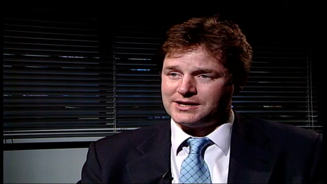 immigration department; london: gir: nick clegg mp interview sot - why is it that the government is only moving on these things at the tail end of... - moving office stock videos & royalty-free footage