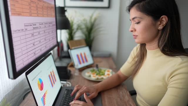 ホームオフィス - 低炭水化物ダイエット点の映像素材/bロール