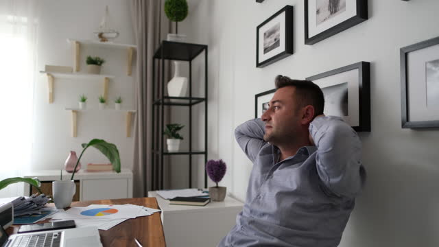 home office - only men stock videos & royalty-free footage