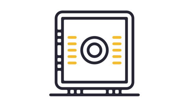 home safe line icon animation with alpha - fare la guardia video stock e b–roll