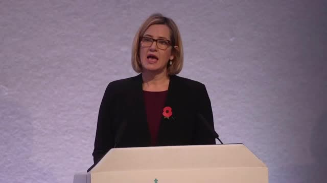 home secretary amber rudd addresses the national police chiefs and association of police and crime commissioners conference she discusses the recent... - 警察署長点の映像素材/bロール