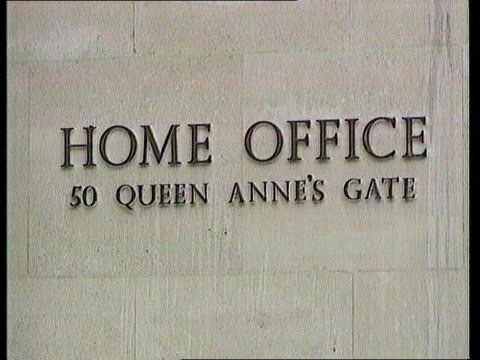 Home Secretary backs down on controversial police reforms DATE GVs of Home Office at Queen Anne's Gate