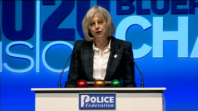 home secretary demands reforms in police federation speech england dorset bournemouth int theresa may mp awalking to podium at police federation... - 2014 stock videos and b-roll footage