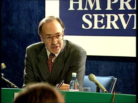 home secretary michael howard announces details of first 'boot camp' detention centres for young offenders; england: london: prison service hq: int... - ann widdecombe stock videos & royalty-free footage