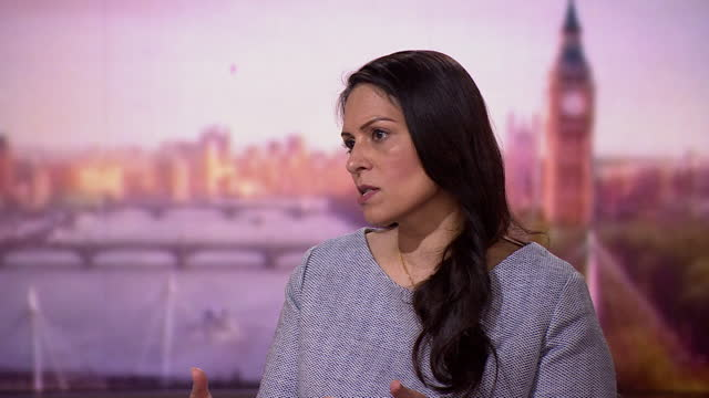 """home secretary priti patel saying """"certain questions"""" about the bbc will be raised in the mid-term charter review - report document stock videos & royalty-free footage"""