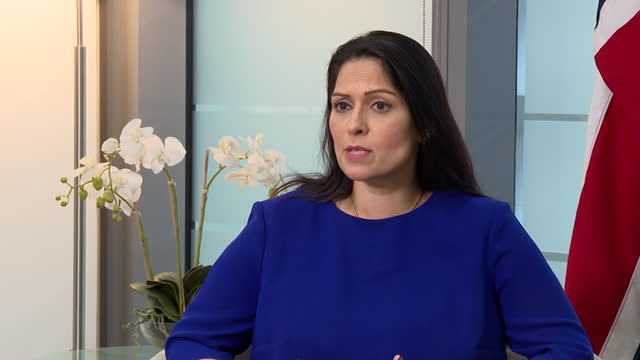 "home secretary priti patel saying work in her department is ""deeply challenging"" and any upset caused is ""completely unintentional"" after allegations... - distraught stock videos & royalty-free footage"