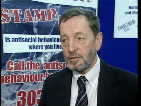 home secretary responds after al qaeda suspect released on mental health grounds; itn england: ext home secretary david blunkett mp towards with... - no doubt band stock videos & royalty-free footage