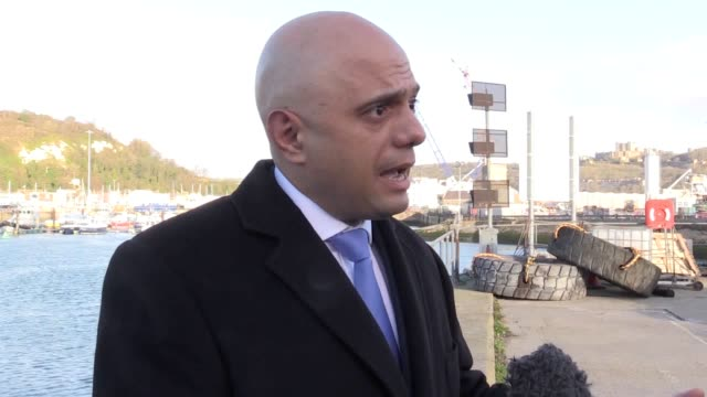 home secretary sajid javid discusses the decision to deploy two extra border force ships to the english channel to prevent people illegally entering... - sajid javid stock videos & royalty-free footage