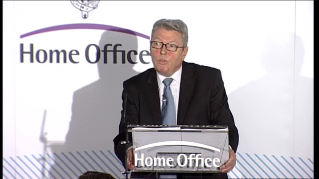 Home Secretary speech on immigration Alan Johnson speech continues SOT It's not true that immigrants have unfettered access to benefits/ there are...