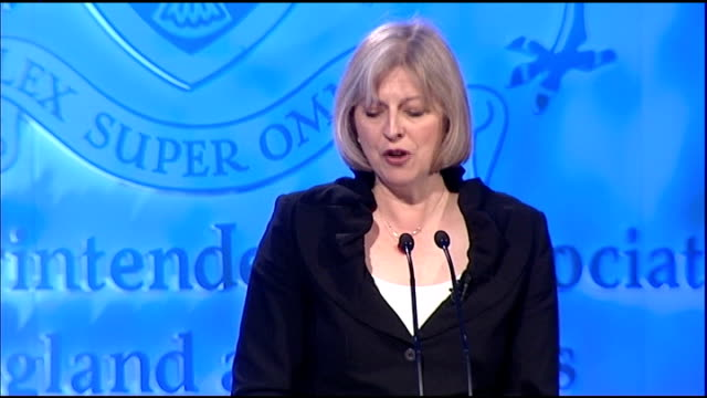 home secretary theresa may denies spending cuts will lead to fewer officers theresa may mp speech sot there will most definitely need to be savings... - cut video transition stock videos & royalty-free footage