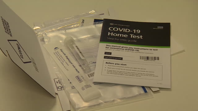 covid19 home test kit on table - decor stock videos & royalty-free footage