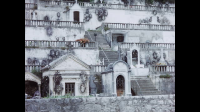 home video footage of the saint pauldevence cemetery circa 1958 - 1958 stock videos & royalty-free footage