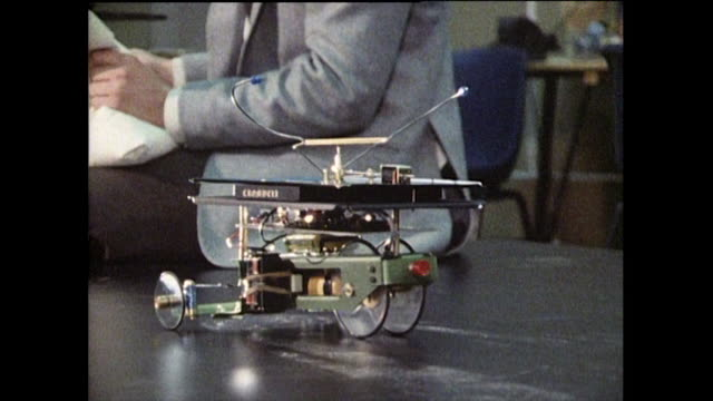 home-built robots compete in robotics competition; 1985 - 1985 stock videos & royalty-free footage