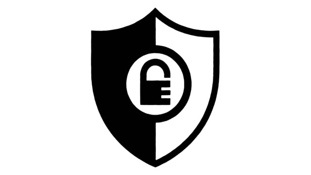 アルファを使用した国土安全保障線描画とインクスプラッタアニメーション - 盾点の映像素材/bロール