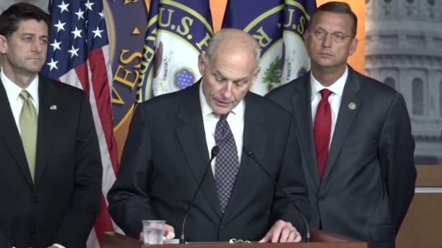 homeland security secretary john kelly says that sanctuary cities endanger public safety by refusing to comply with detainer orders from immigration... - department of homeland security stock videos & royalty-free footage