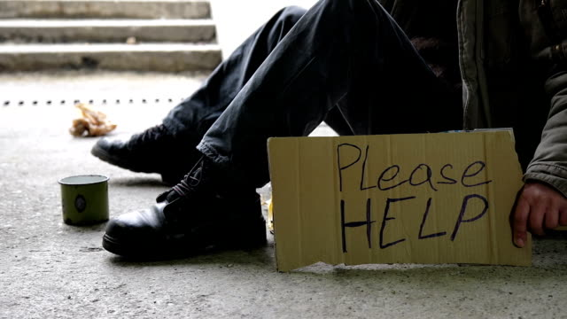 hd dolly: homeless begging for help - drug abuse stock videos & royalty-free footage