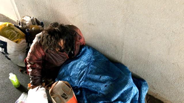 Homeless Man in Tokyo Japan