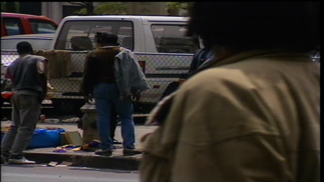 homeless people and police officers near cooper union, nyc - 1990 stock videos & royalty-free footage