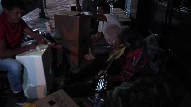 a homeless person plays the guitar at city centre on august 29 2020 in sao paulo brazil according to an official survey by the municipality of sao... - 25 29 years stock videos & royalty-free footage