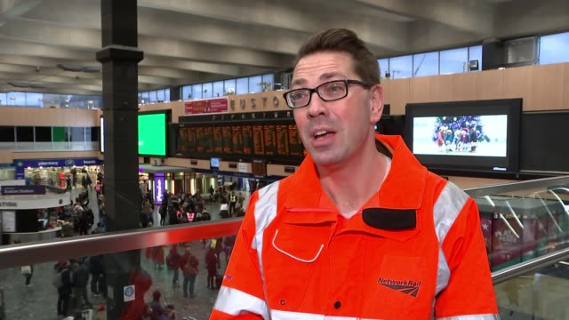 London Euston station to become homeless shelter on Christmas Day Euston Station INT Steve Naybour interview SOT